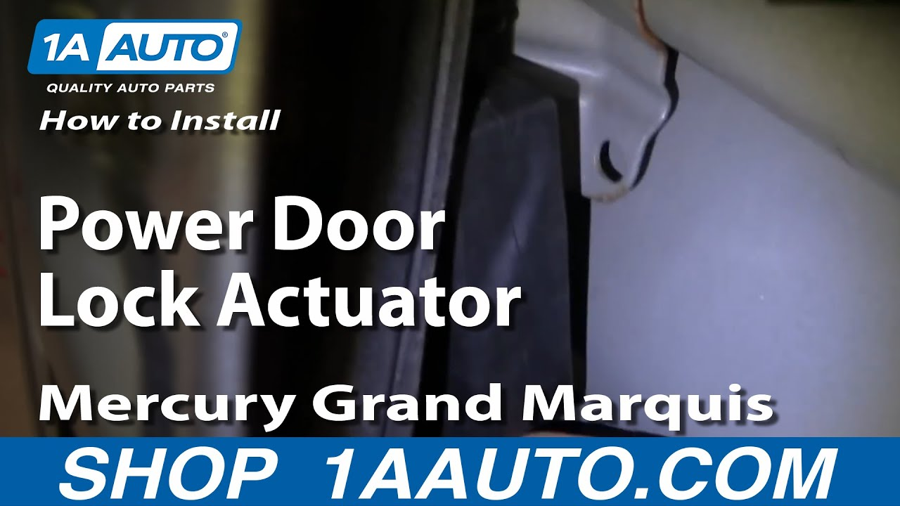 hight resolution of how to replace power door lock actuator 92 03 mercury grand marquis 1a auto