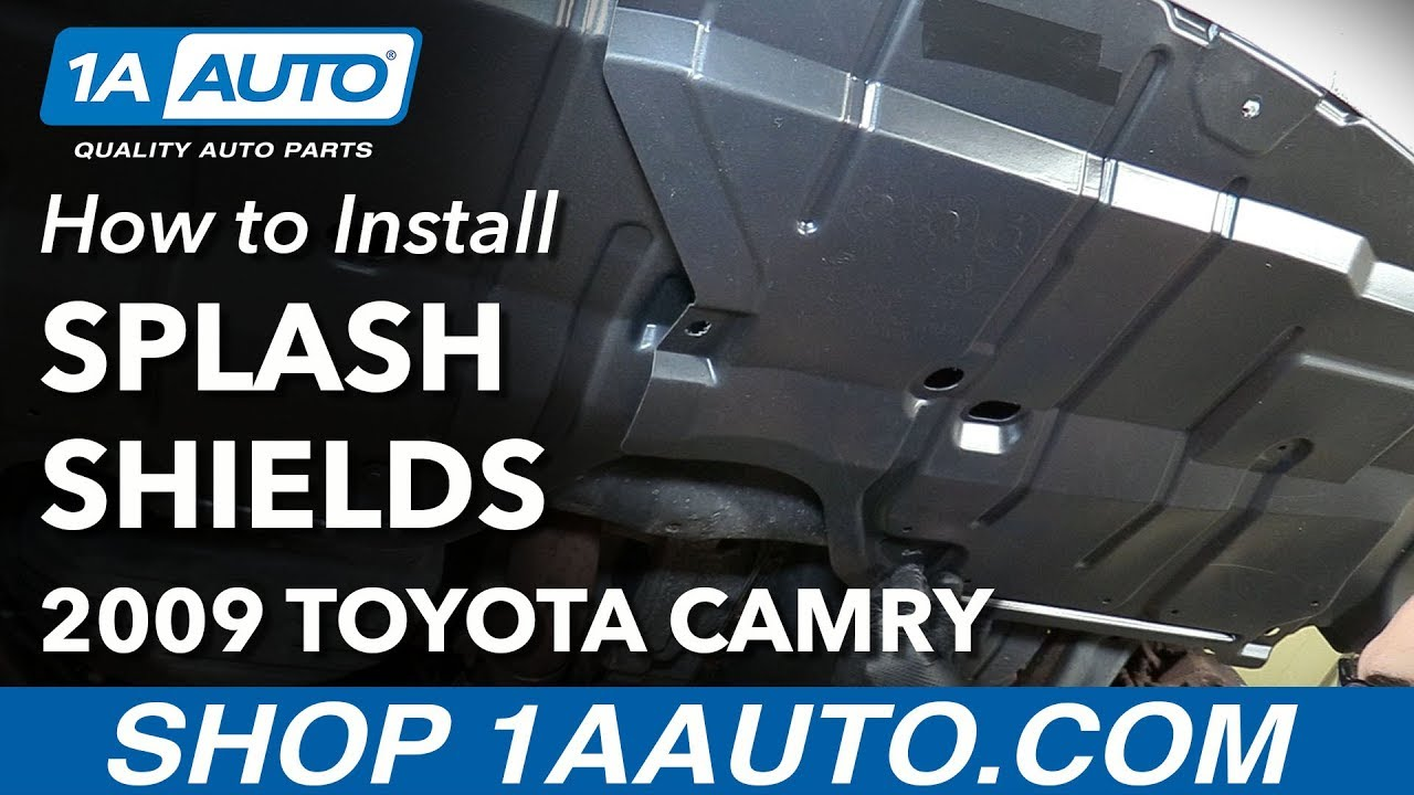 hight resolution of how to replace front lower engine splash shields 07 10 toyota camry 1a auto
