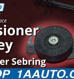 how to replace serpentine belt tensioner pulley 01 06 chrysler sebring 1a auto [ 1280 x 720 Pixel ]