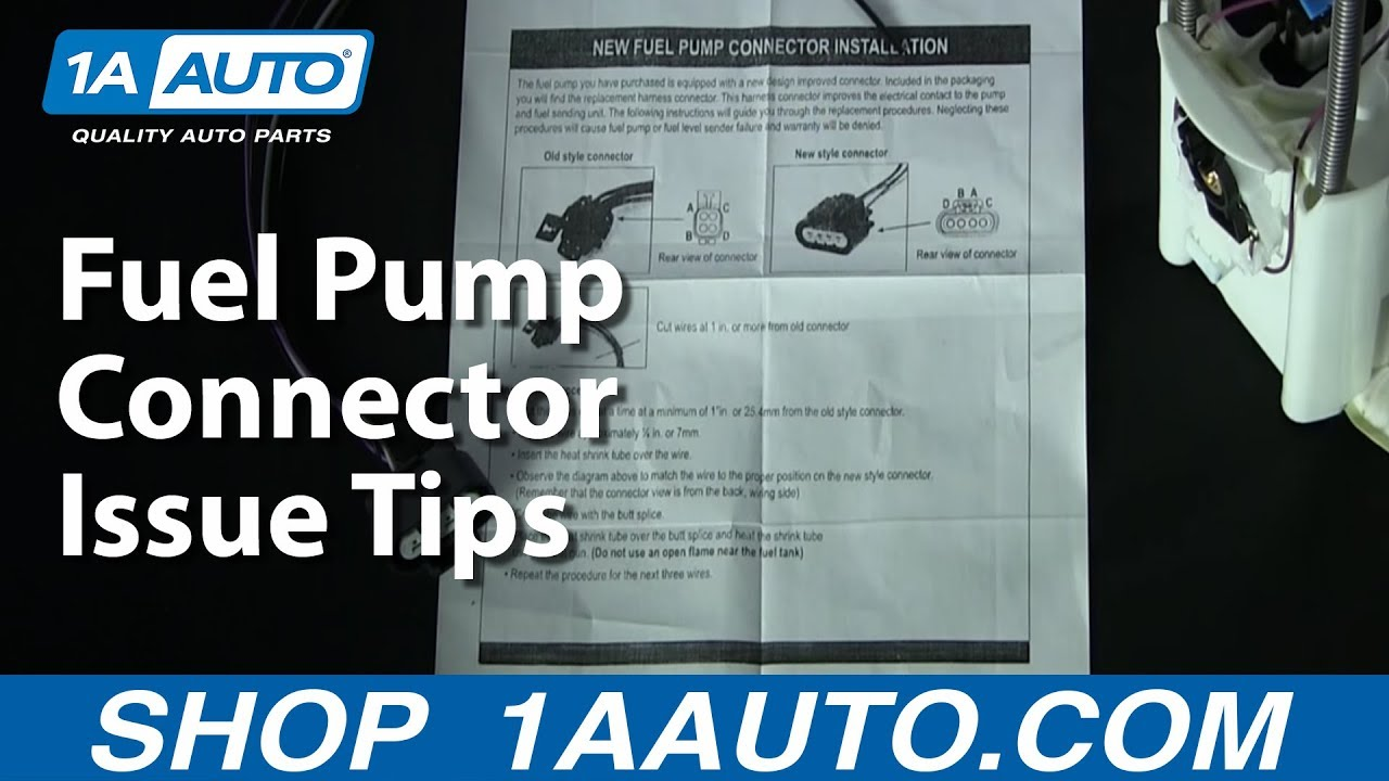 2003 Jeep Cherokee Wiring Diagram Color Code Fuel Pump Connector Issue Tips 1aauto Com 1a Auto