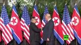 فيديو  للمصافحة التاريخية بين ترامب وكيم جونغ أون