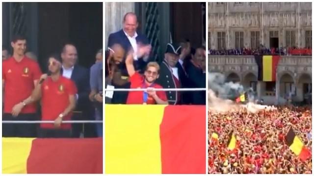 بالفيديو…بلجيكا تحتفل بنجومها وهازارد مقدم الحفل