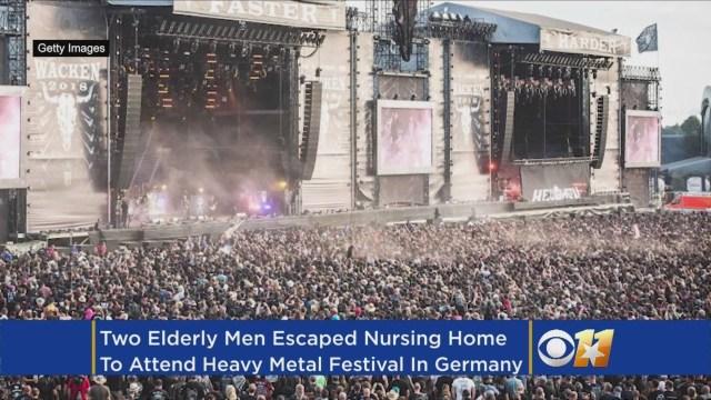 """عجوزان يهربان من دار للمسنين إلى مهرجان ضخم لموسيقى """"ميتال"""""""