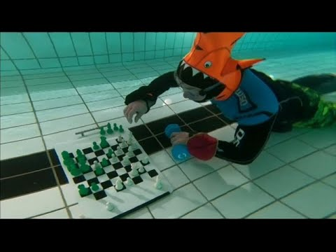 شاهد .. بطولة العالم في الشطرنج تحت الماء