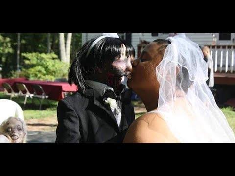 زواج امرأة من دمية «زومبي» في حفل زفاف مخيف