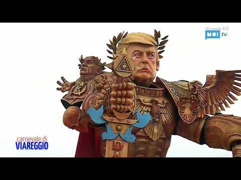 """تمثال """"ترامب المحارب"""" يجوب الشوارع الإيطالية"""