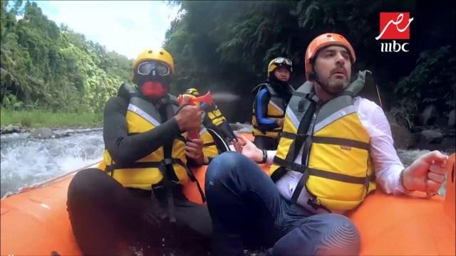 إصابة قوية لوائل جسار مع رامز في الشلال