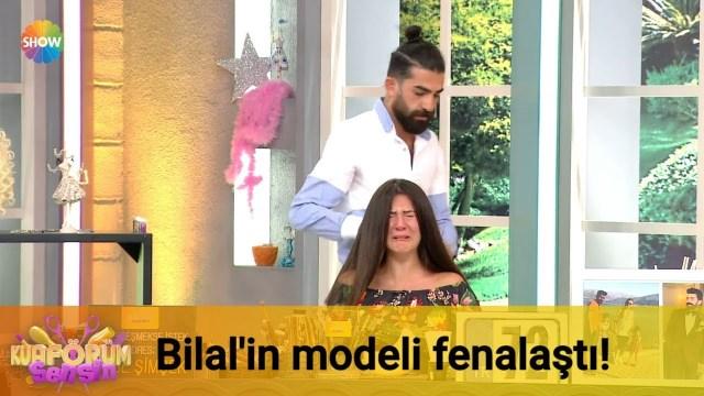 شاهد عارضة تركية يغمى عليها لأن المصفّف بالغ بقصّ شعرها
