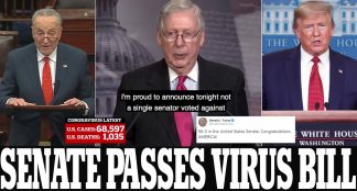 'Congratulations America!' President Trump Salutes Senate After It Unanimously Passes Record .2 Trillion Coronavirus Bill to Send ,200 to Many Americans After Days of Deadlock – but Most Won't See Their Money Till May