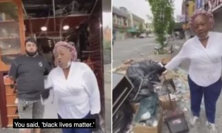 WAT'You Tell Me Black Lives Matter – You Lied': Elderly Black Woman Shames Looters for Destroying her Brooklyn Store and Tells Them to 'Get a Job'