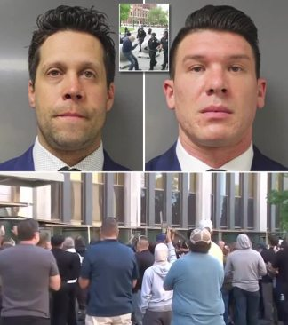 Two Buffalo Cops Plead Not Guilty to Assault After Shoving 75-Year-Old Peace Activist During George Floyd Death Protest as Their Mugshots are Released and Hundreds of Colleagues Gather Outside City Courthouse in Solidarity to Cheer Their Release Without Bail