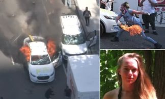 FBI Track Down White Woman who Set Police Cars Alight via her Custom-made Etsy T-shirt which Led to her LinkedIn and Vimeo Accounts – and she Now Faces 80 Years in Jail