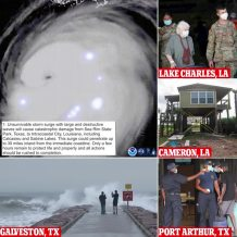 Hurricane Laura becomes Category 4 and will bring 'unsurvivable storm surge' that could damage buildings 30 miles inland in Texas and Louisiana – amid warnings that 'only hours remain to protect lives and property'