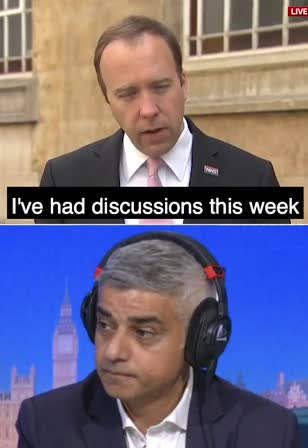 Sadiq Khan warns capital 'should go into Covid lockdown TOMORROW' as Matt Hancock says Londoners could be told to work from home this week amid fears city is just 'two or three days' behind hotspots in the North