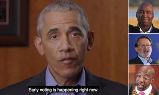 Obama throws his support behind Democrats' bid to flip the Senate by releasing ads from his DC office backing three candidates ahead of his first full-scale campaign event tomorrow
