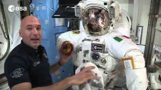 Luca Parmitano's spacesuit
