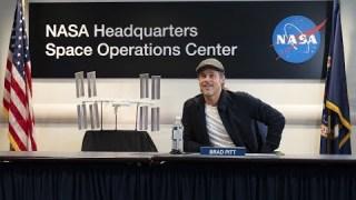Brad Pitt Speaks with NASA Astronaut Nick Hague Aboard the International Space Station