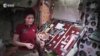 Cooking in space: mackerel, quinoa and leek cream tortilla