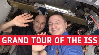 Grand tour of the International Space Station with Drew and Luca | Single take