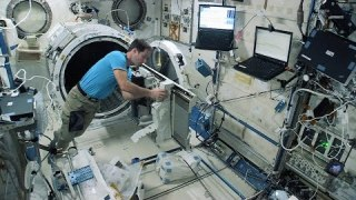 Launching satellites from Space Station ? step one