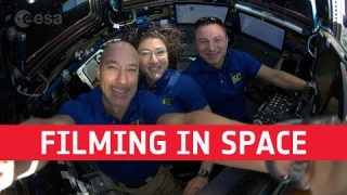 Astronaut coffee break: filming in space
