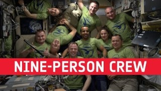 Astronaut coffee break: nine-person crew