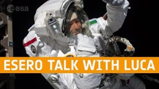Multi-site in-flight call with ESA astronaut Luca Parmitano