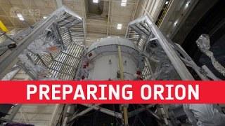 Preparing Orion for thermal vacuum testing