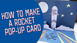 How to Make a Rocket Pop-Up Card