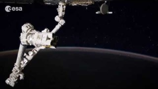 Make a wish! Alexander's first timelapse from space