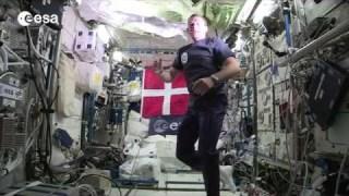 Andreas Mogensen's Columbus space laboratory tour (Danish)