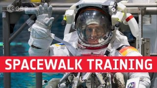 Matthias Maurer: training for a spacewalk