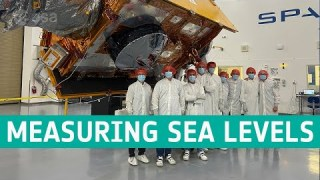 Copernicus Sentinel-6 measuring sea levels using radar altimetry