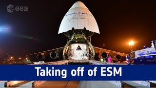 Antonov takeoff with first European Service Module