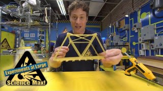 Science Max|BUILD IT YOURSELF|Pasta Bridge|EXPERIMENT