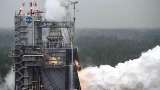 Engine Test for NASA Artemis Moon Rocket