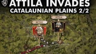 Attila invades the Western Roman Empire ⚔️ Battle of the Catalaunian Plains, 451 AD – Part 2/2
