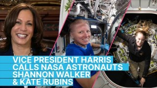 Vice President Kamala Harris Calls NASA Astronauts Shannon Walker and Kate Rubins
