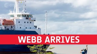 Webb arrives in French Guiana for launch on Ariane 5