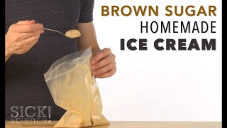 Brown Sugar Homemade Ice Cream - Sick Science! #217