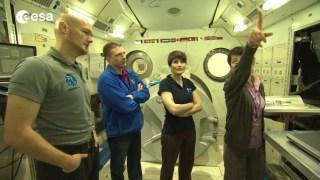 ESA astronauts training in Japan