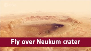 Fly over Neukum crater