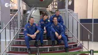 Four ESA astronauts training at Star City