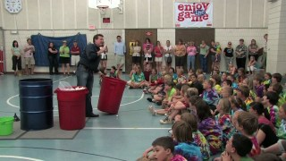 Liquid Nitrogen Ping Pong Ball Explosion - 5th Grade Class Graduation