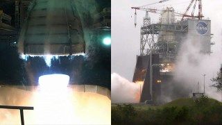 Milestone Hot Fire Engine Test for NASA's Space Launch System Rocket