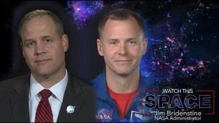 NASA Administrator Bridenstine Talks With Astronaut Nick Hague
