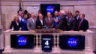 NASA, Partners Ring Closing Bell at New York Stock Exchange