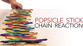 Popsicle Stick Chain Reaction - Sick Science! #144
