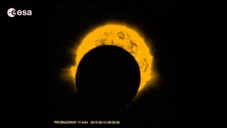 Proba-2 partial eclipses