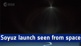 Soyuz spacecraft launch timelapse seen from space